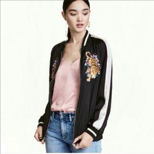 H&M Divided Tiger Embroidered Bomber Jacket